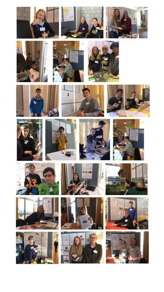 Die Schülerinnen und Schüler des GEOs an ihren Projektständen.